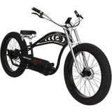 Electric Beach Cruiser Bikes - Micargi Cyclone Electric Fat Tire Beach Cruiser Bike