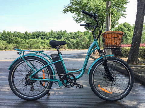 Big Cat Long Beach 500 Electric Beach Cruiser Bike Electric Fat Tire Bikes - Electric Bike City