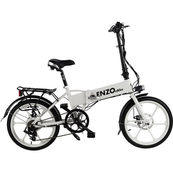 Enzo Electric Bike 36V Aluminum Frame Rust Resistant Folding E-Bike Electric Folding Bikes - Electric Bike City