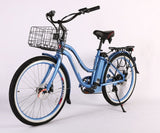 Malibu Elite Max 36 Volt Step-Through Electric Beach Cruiser Bike Electric Bikes - Electric Bike City