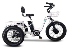 Emojo Caddy Pro Electric Fat Tire Tricycle Electric Bikes - Electric Bike City