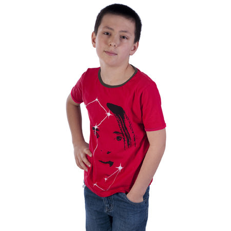 Red Cotton star man  T-shirt - deezo the happy fashion