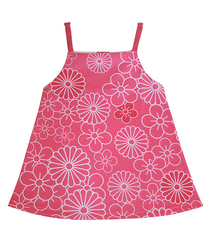 Pink Flower dress - deezo the happy fashion