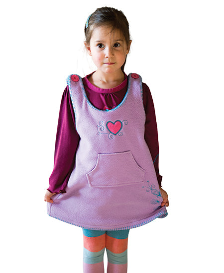Lilac Love heart Winter LOVE Dress - deezo the happy fashion