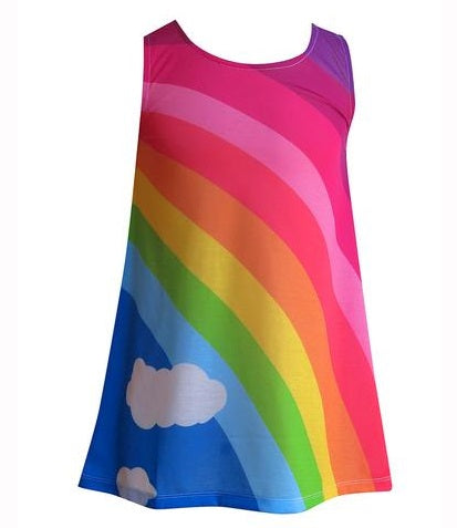 Classic Girls rainbow dress - deezo the happy fashion 8c897fd03