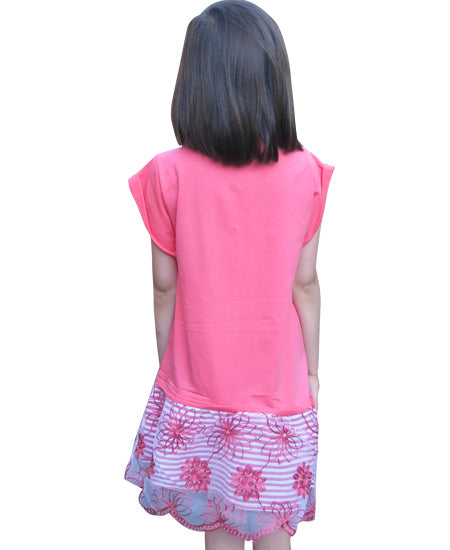 Pink Cotton Dress - deezo the happy fashion