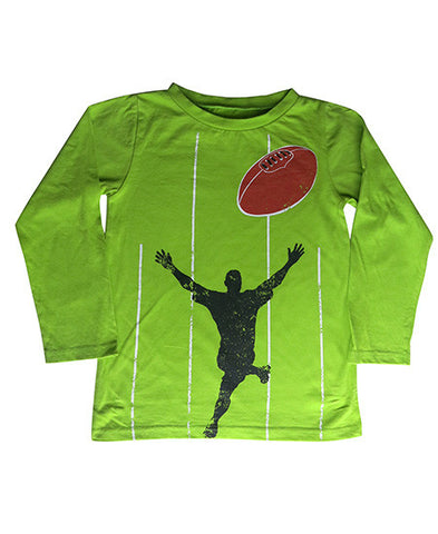 Green Footy  - Winter Top - deezo the happy fashion