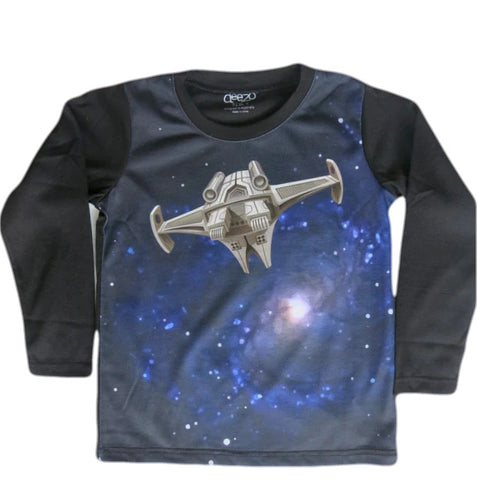 Intergalactic - boys space T-shirt - deezo the happy fashion