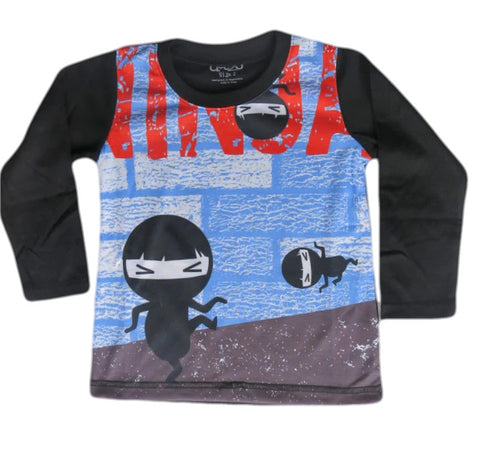Tip Toe Ninja  - Boys Kawaii long sleeve T shirt