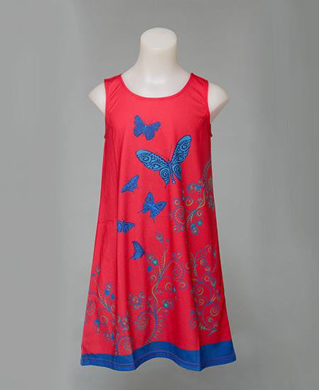 Butterfly red - Girl dress