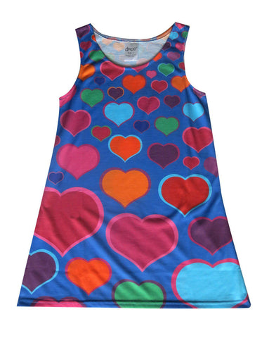 Blue hearts - Girl love dress - deezo the happy fashion