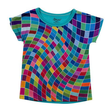 Shapes - Girl printed T shirt - Tops, Shirts & T-Shirts deezo the happy fashion