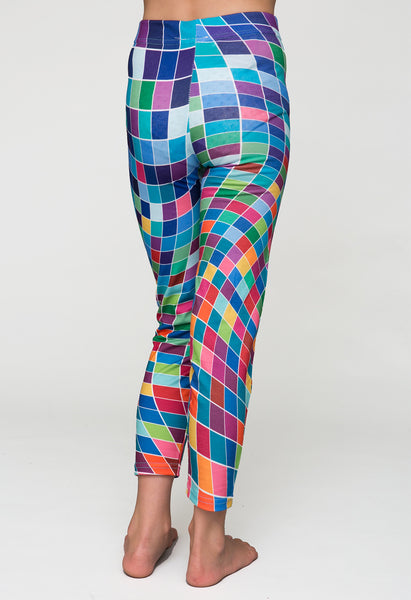 pixelmania - printed girls leggings - deezo the happy fashion