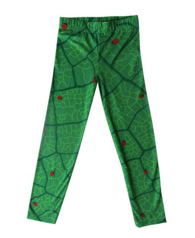 Ladybugs on leaf - girls printed leggings