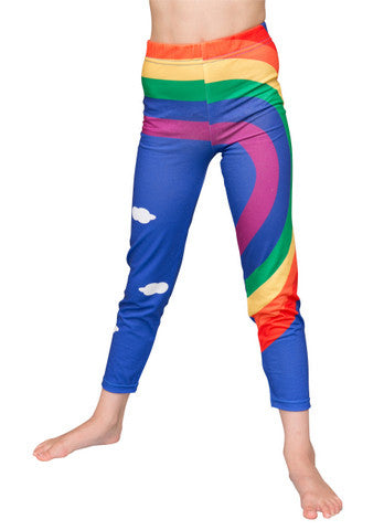 Rainbow - girls printed leggings - Socks & Tights deezo the happy fashion