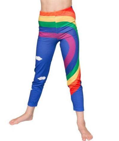 Rainbow - girls printed leggings - deezo the happy fashion