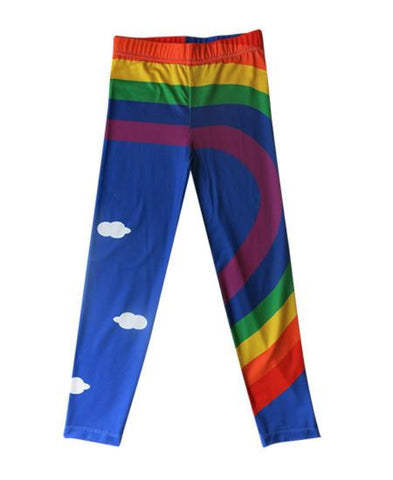 Rainbow - girls printed leggings