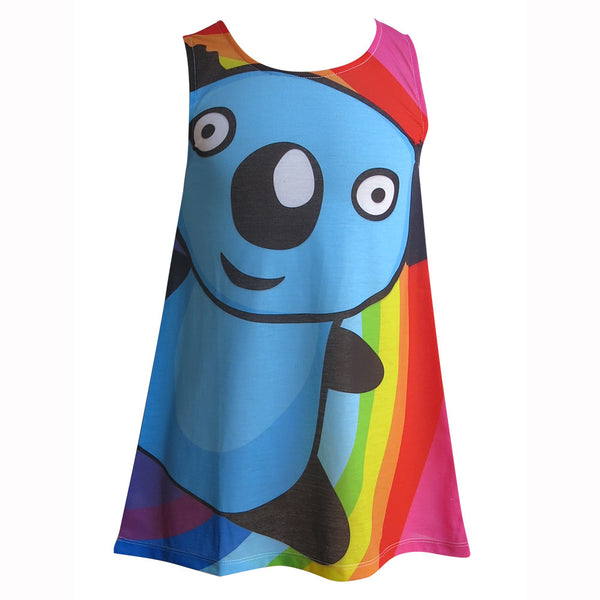 Rainbow Panda - Girls kawaii dress - deezo the happy fashion