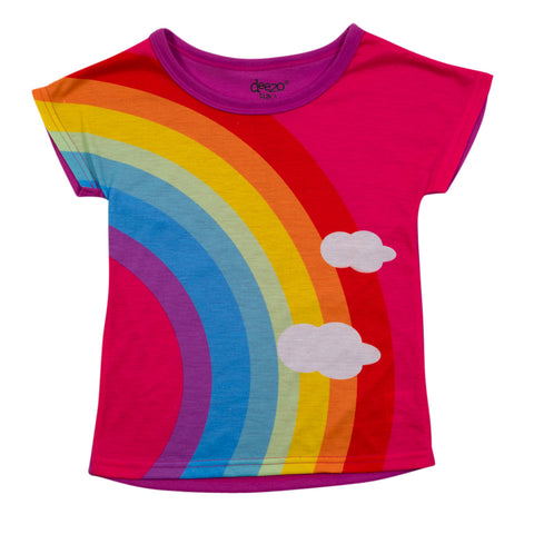 Girls Classic Rainbow T-shirt - deezo the happy fashion