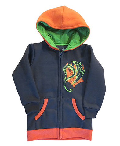 Fire Dragon - kids hoodie - deezo the happy fashion