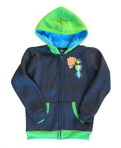 Alien - kids hoodie - deezo the happy fashion