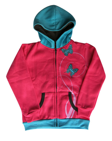 Girls butterfly hoodie - deezo the happy fashion