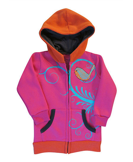 Song bird girls hoodie - deezo the happy fashion