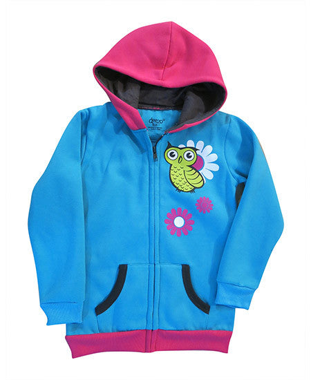 Owl in Spring - kids hoodie - jackets deezo the happy fashion