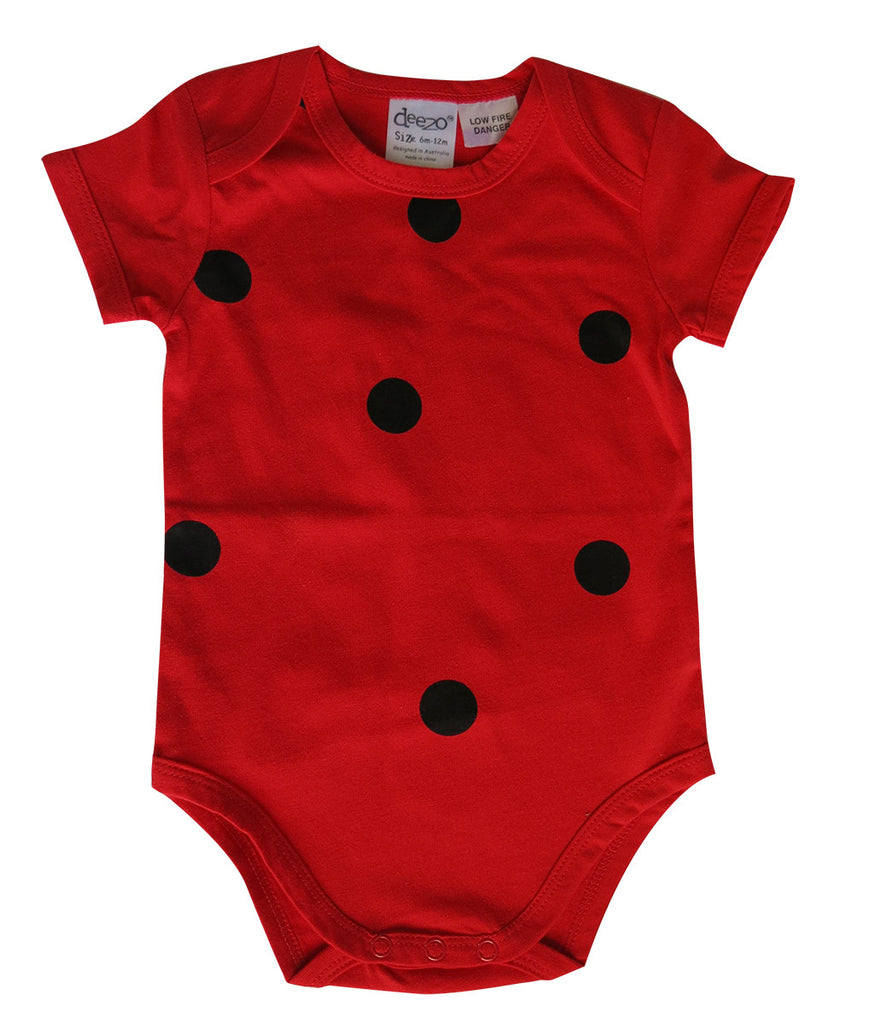 Red Lady Bug baby suit