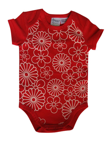 Flower on Red - Baby Suit