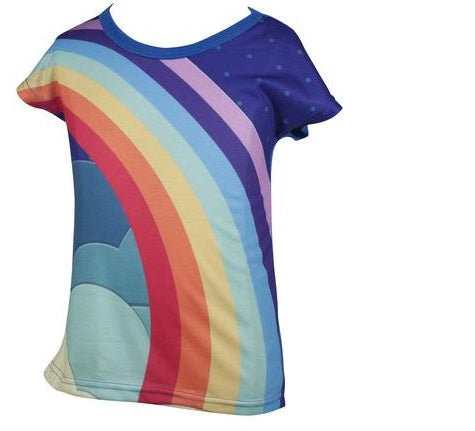 United World - Girls Vintage rainbow T-shirt - deezo the happy fashion