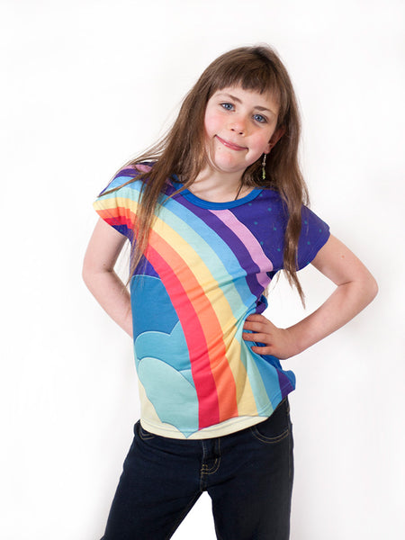 United World - Girls Vintage rainbow T-shirt