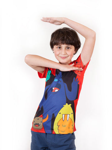 Monsters  - Boys Kawaii T shirts - deezo the happy fashion