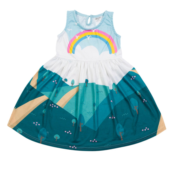 Rainbow View - Classic Shape dress - deezo the happy fashion