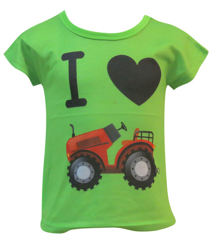 I love Tractor kids and toddlers T-shirt - deezo the happy fashion