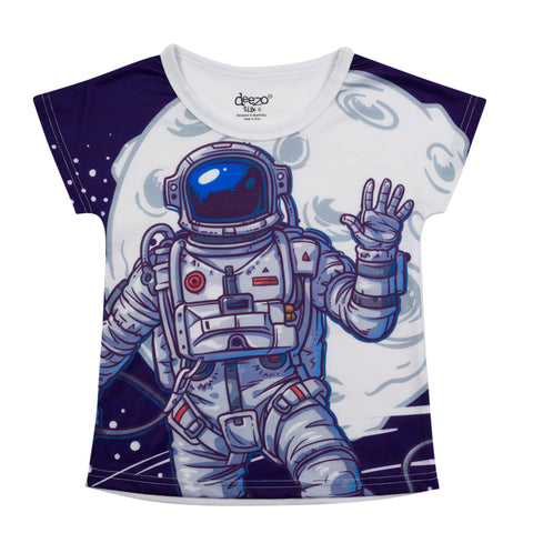 Astronaut Kids Space T-shirt - deezo the happy fashion