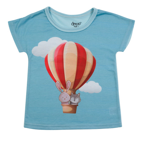 Flying Balloons kids and toddlers T-shirt - deezo the happy fashion