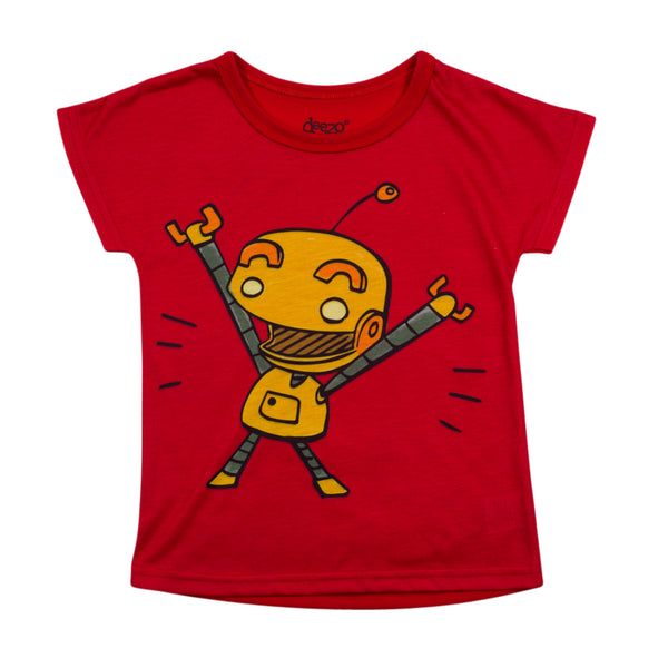 Baby Robot -  kids and toddlers T-shirt - deezo the happy fashion