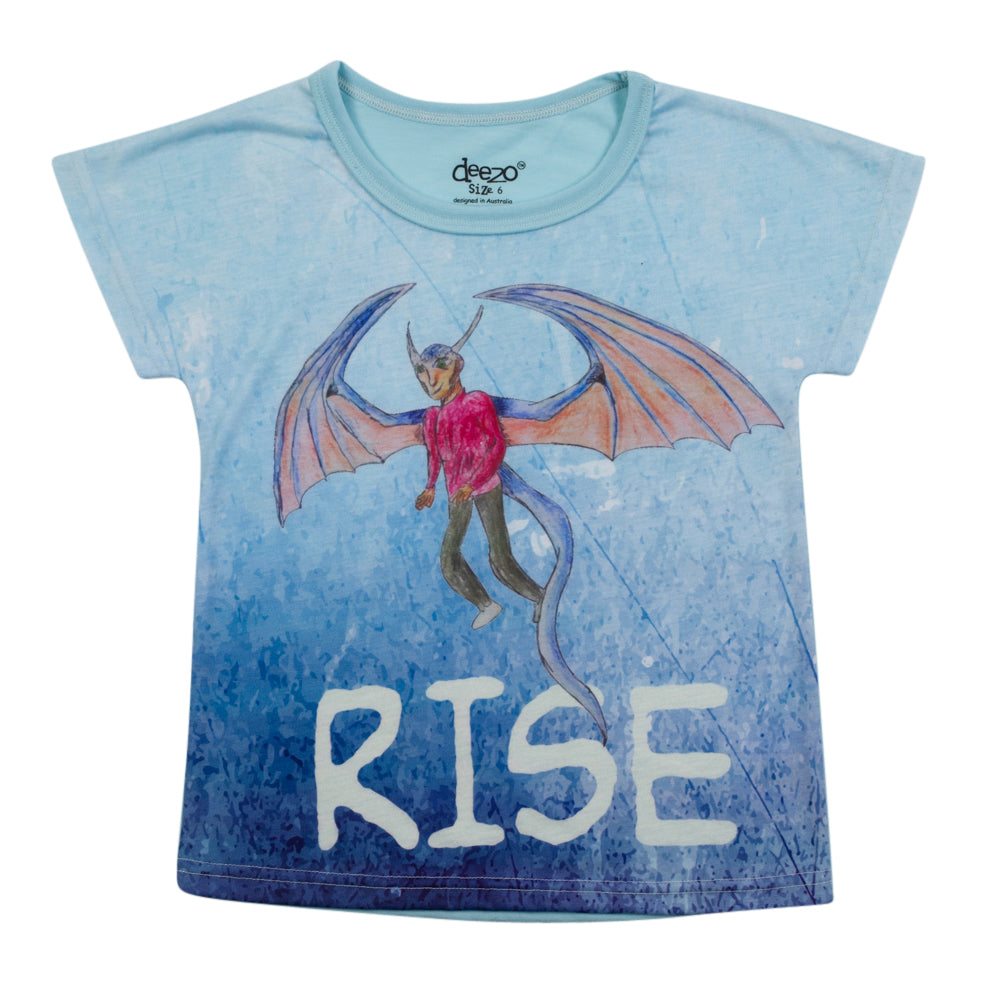 Rise of the dragons -  Kids T-Shirt - deezo the happy fashion