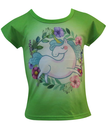 Green Unicorn -  kids and toddlers T-shirt - deezo the happy fashion