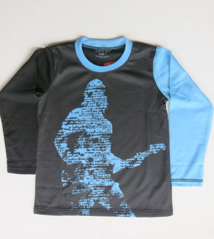 Guitar Hero  - long sleeve band T shirt - deezo the happy fashion