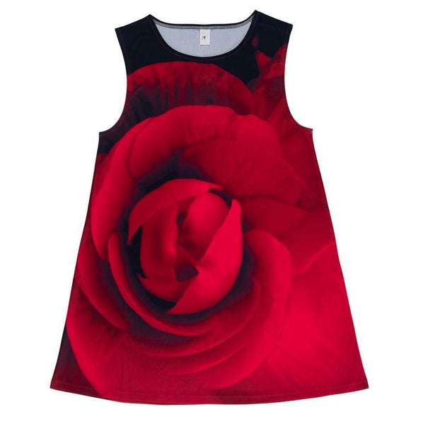 Red Rose A-Line Swing Dress