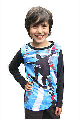 Skater  - long sleeve boys T shirt - deezo the happy fashion