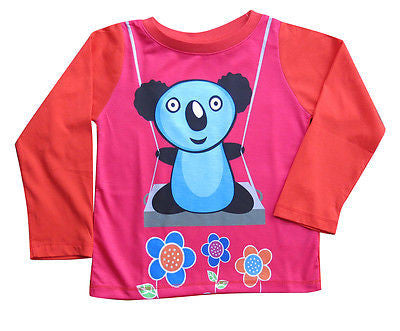 Koala - girls long sleeve T shirt - deezo the happy fashion