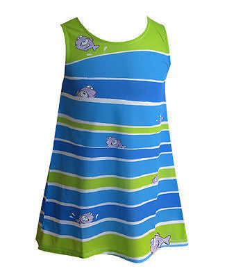 Striped Fish - Girl dress - Dresses deezo the happy fashion
