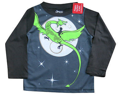 Dragon and Boy - Tops, Shirts & T-Shirts deezo the happy fashion