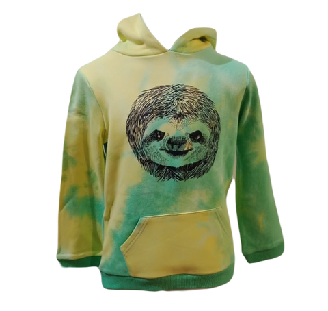 Cotton Green tie-dye Sloth hoodie