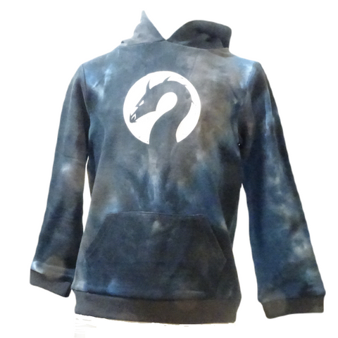 Cotton Navy tie-dye Dragon hoodie