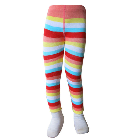 Orange & Blue Stripe Leggings - Infant - Socks & Tights deezo the happy fashion