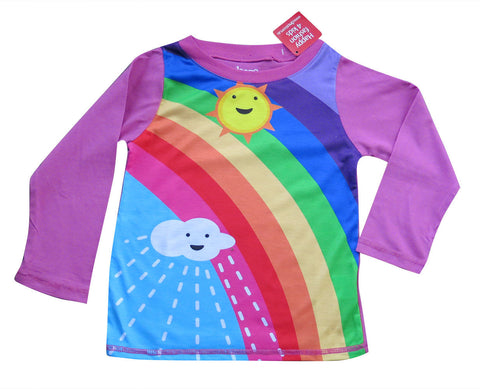 Rainbow - Winter rainbow Long sleeve girls T shirt - deezo the happy fashion